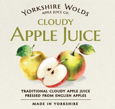 Yorks Wolds apple juice label
