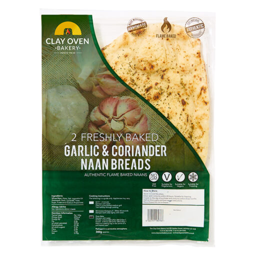Clay Oven Giant Garlic & Coriander naan