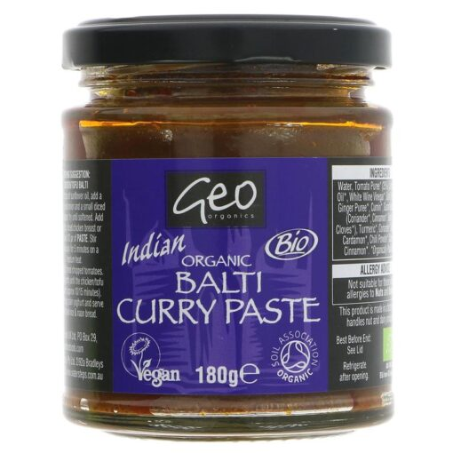 Geo Organics Balti Curry Paste